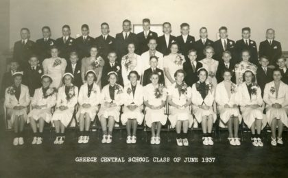 Greece Central School Graduating Class of 1937