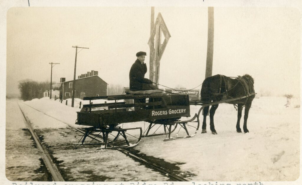 Roger's Grocery Delivery Boy at Ridge Road Railroad Crossing