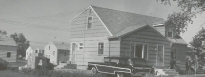 96 Sharon Drive Home in August 1959